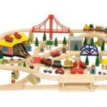 Drveni vlakovi igračke potiču kreativnost